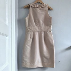 Just...Taylor Dresses - JUST... TAYLOR Champagne Ruffled Cocktail Dress 10